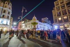Bukarest - Calea Victoriei Lizenzfreie Stockfotos