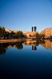 Bukarest - Dambovita-Fluss stockfotos
