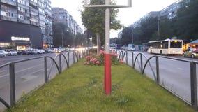 Bukarest an der Dämmerung lizenzfreies stockbild