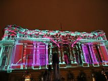 Bukarest, Festival von Lichtern 2017 stock footage