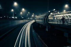 Bukarest-Lichtspuren lizenzfreie stockbilder