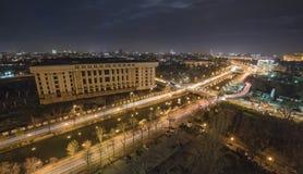 Bukarest Nightscene Lizenzfreie Stockfotografie