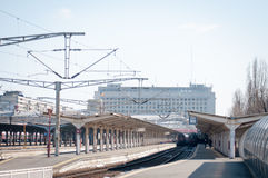 Bukarest-Nordstationsplattformen Stockfotos