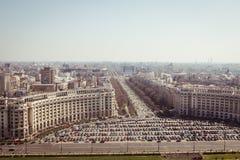 Bukarest-Panorama Lizenzfreie Stockfotos