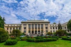 BUKAREST, RUMÄNIEN - 28. JUNI: Die juristische Fakultäts-Universität am 28. Juni 2015 in Bukarest, Rumänien Die juristische Fakul Stockfoto