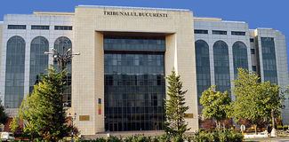 Bukarest, Rumänien: Stadt-Gericht Stockfotografie