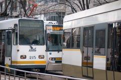 Bukarest-Trams Stockfotos