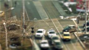 Bukarest-Verkehr, Neigungsverschiebung stock footage