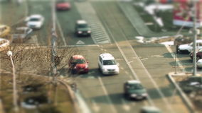 Bukarest-Verkehr, Neigungsverschiebung stock video footage