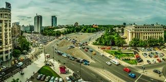 Bukarest-Vogelperspektive -- Victory Square lizenzfreies stockfoto
