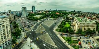 Bukarest-Vogelperspektive -- Victory Square stockfotos
