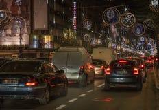 Bukarest-Weihnachten, das 2016 beleuchtet Lizenzfreie Stockbilder