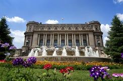 › Bukarests Palatul Cercului Militar NaÈ ional Stockbilder