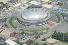 Bukareszt widok lotniczego Obrazy Royalty Free