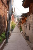Bukchon Alley on a Sunny Day in Seoul, South Korea Stock Image