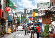 Bukchon commercial centre Royalty Free Stock Image