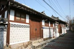 bukchon hanok χωριό της Κορέας Στοκ φωτογραφία με δικαίωμα ελεύθερης χρήσης