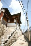 bukchon hanok χωριό της Κορέας Στοκ Φωτογραφίες
