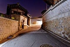 Bukchon Hanok historic district in Seoul, South Korea. Royalty Free Stock Photo