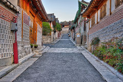 Bukchon Hanok Village in Seoul, South Korea Royalty Free Stock Photos