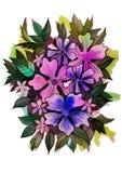 Bukett av att växa för blommor på äng Arkivbild