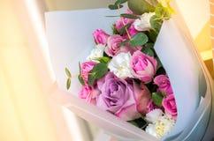 Bukett av blommor en sammansättning av rosor Royaltyfria Bilder