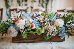 Bukett av blommor garneringar Arkivfoton
