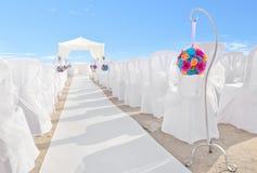 Bukett av blommor på garneringar för ett bröllop. Arkivfoton