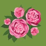 Bukett av försiktiga rosa blommor Fotografering för Bildbyråer