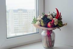 Bukett av frukter, grönsaker och champinjoner Royaltyfria Foton