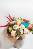 Bukett av frukter, grönsaker och champinjoner Royaltyfri Fotografi