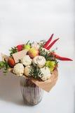 Bukett av frukter, grönsaker och champinjoner Arkivfoton
