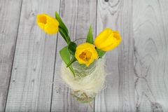 Bukett av gula tulpan Royaltyfria Bilder