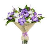 Bukett av lila och vita orkidér Royaltyfria Bilder