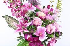 Bukett av många lilor sort av blomman royaltyfri foto