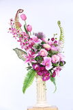 Bukett av många lilor sort av blomman arkivfoto