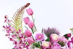 Bukett av många lilor sort av blomman royaltyfri fotografi