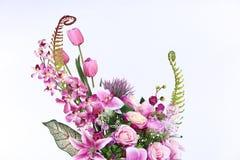 Bukett av många lilor sort av blomman arkivbild