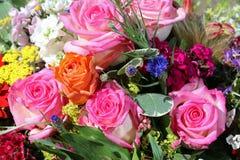 Bukett av nya sommarblommor Royaltyfria Bilder
