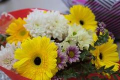 Bukett av olika blommor f?r ferien arkivfoton