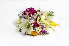 Bukett av omväxlande blommor royaltyfria bilder