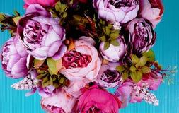 Bukett av pionblommor Royaltyfri Foto