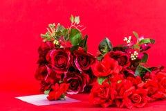 Bukett av röda ro Arkivfoto