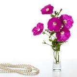 Bukett av rosa petunior Royaltyfri Fotografi