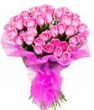 Bukett av rosa rosor Arkivfoton
