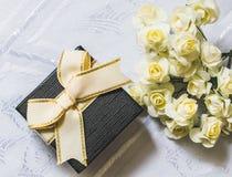 Bukett av rosor i bakgrunden arkivbild