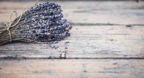 Bukett av torkad lavendel Arkivfoto