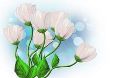 Bukett av vita blommor Royaltyfri Foto