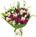 Bukett av vita orkidér Royaltyfri Bild