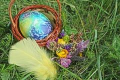 Bukett för blommor för påskägg och vår Arkivbilder